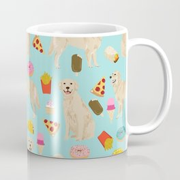 Golden Retriever donuts french fries ice cream pizzas funny dog gifts dog breeds Coffee Mug