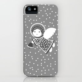 Angels on the gray iPhone Case