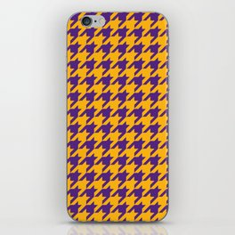 Houndstooth Checkered: Purple & Gold iPhone Skin