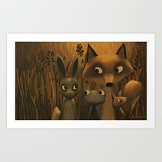 Did You Hear Something? Art Print