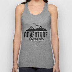 ADVENTURE AWAITS Unisex Tank Top