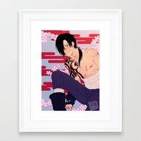 dmmd Framed Art Prints featuring cowjack by JohannaTheMad