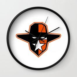 Cowboy Outlaw Star Icon Wall Clock