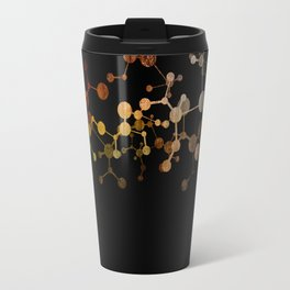 Metallic Molecule Travel Mug