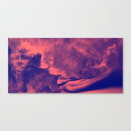 Sands of the Cosmos - Red Canvas Print