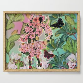 Vintage Flower Fairy Serving Tray