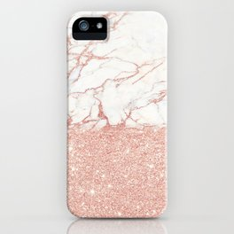 Marble and glitter iPhone Case