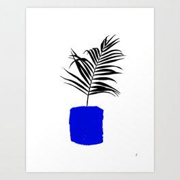 Blue Pot Art Print