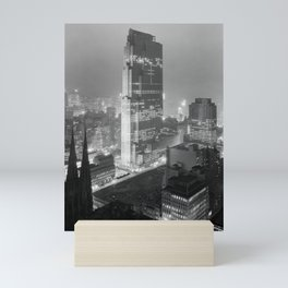 Rockefeller Center - NYC - Winter 1933 Mini Art Print