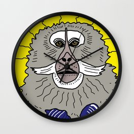 Dreaming of a better place: Marcel the monkey Wall Clock