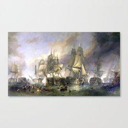 The Battle of Trafalgar Canvas Print