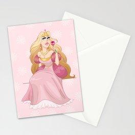 Blond Princess Smells A Rose Stationery Cards