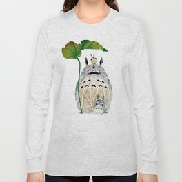 totoro moustache Long Sleeve T-shirt