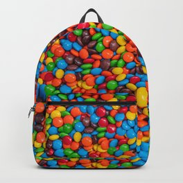 Colorful Candy-Coated Chocolate Pattern Backpack
