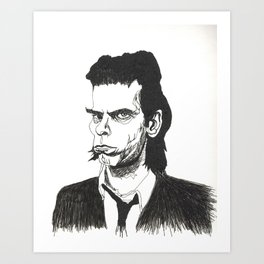 Nick Cave portrait Art Print