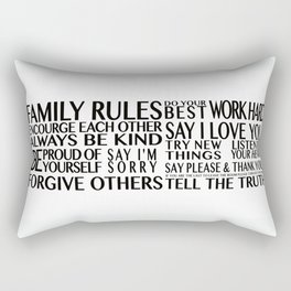 Family Rules 2 Rectangular Pillow