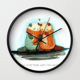 You otter keep warm Wall Clock