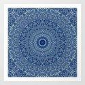 Sacred Blue Garden Mandala by davidzydd