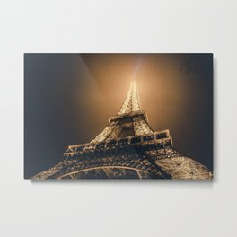 World famous Eiffel tower at the city center of Paris, France Metal Print