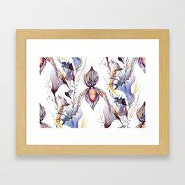 Paphiopedilum, Slipper Orchid Art, Venus Lady Slipper, Exotic Tropical Orchid Framed Art Print
