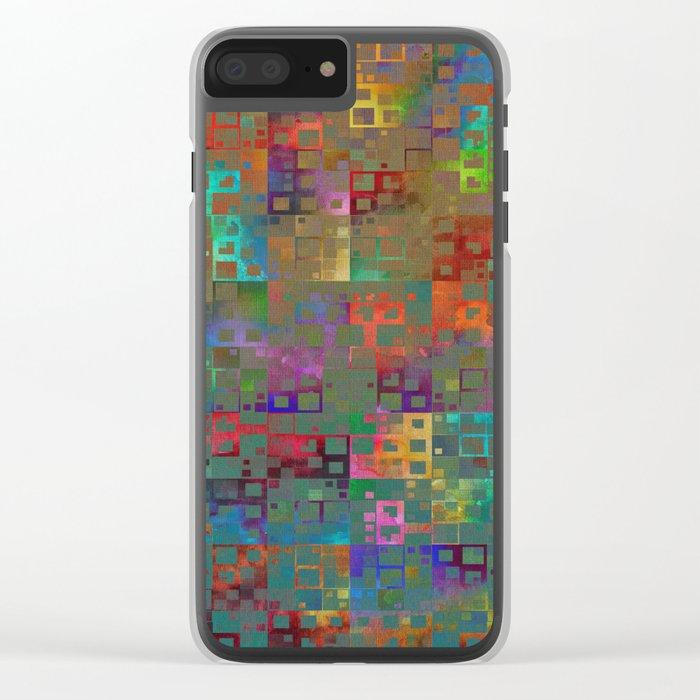 Geometrical Pattern 3 Clear iPhone Case
