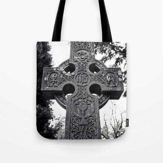 Celtic cemetery cross Tote Bag