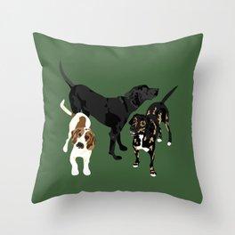 Nicky, Petunia and Lil Joe Throw Pillow