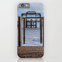 The old Palace pier in Brighton  iPhone Case