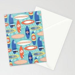 Vintage Surfboards Pattern Stationery Cards