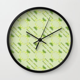 Baroque style lime pattern. Wall Clock