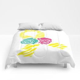 Endometriosis Ribbon 2 Comforters