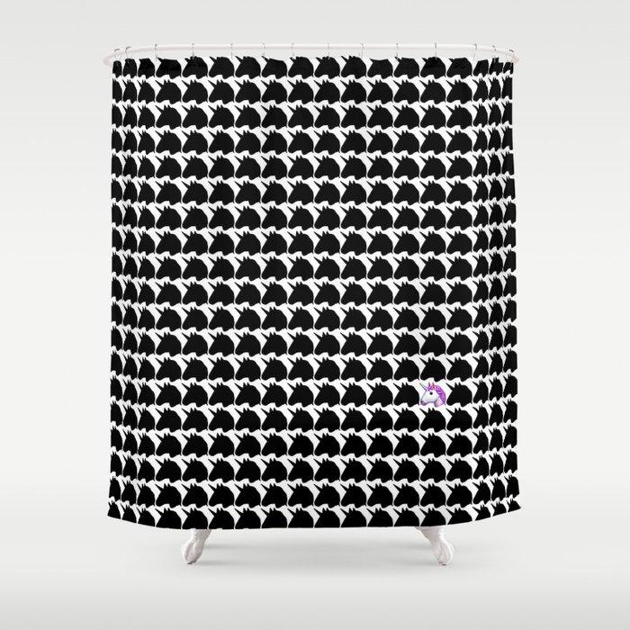 Unicorn Emoji Shower Curtain