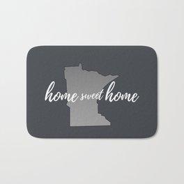 Minnesota Home Sweet Home Grey Bath Mat