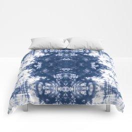 Shibori Tie Dye 2 Indigo Blue Comforters