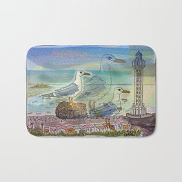 The Seagull and the Lighthouse Bath Mat