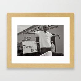 Turkey Necks - New Orleans, Louisiana Framed Art Print