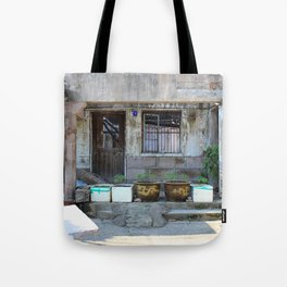 Abandonned Chinese House Tote Bag