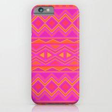 Tribal Pattern (Pink & Orange) iPhone 6s Slim Case