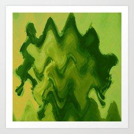 A DESERT OASIS ON ZANDOR Art Print