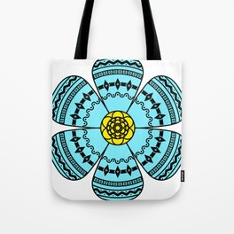 Hippie Geometric Flower Tote Bag