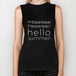 Hello summer! (black) Biker Tank