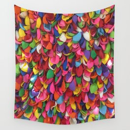 Rainbow Balloons Deflated Wall Tapestry