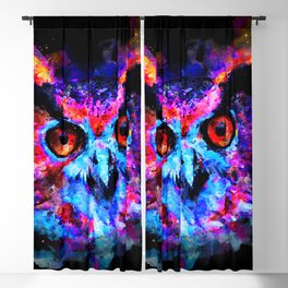 owl purple blue perfect Blackout Curtain