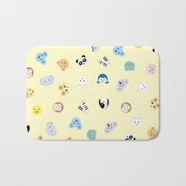 Cute Chibi animals pattern Bath Mat