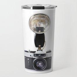 Old film cameras and flash Travel Mug