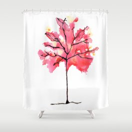 Autumn Tree Watercolor Paintig Shower Curtain
