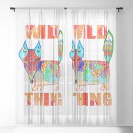 Wild thing - fox Sheer Curtain