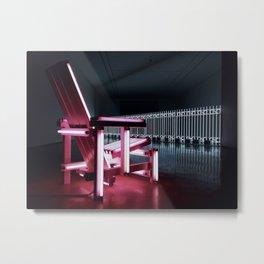 Electric chair. Metal Print