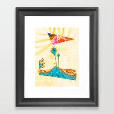 Summer in LA - Collaboration 1 Framed Art Print