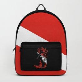 Tribal Scuba Flag Mermaid Backpack